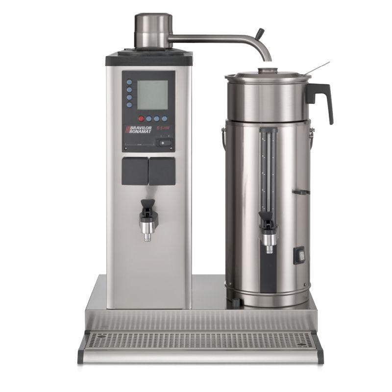 Urnbryggare med behållare för 5 liter i rostfritt